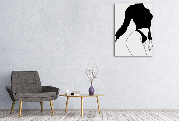 Female Figure Line Picture Canvas