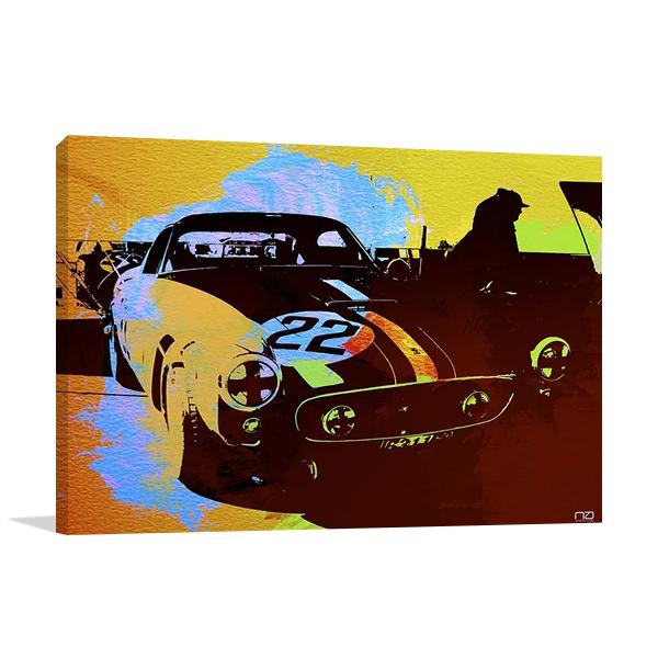 Ferrari Race Car Canvas Art Print