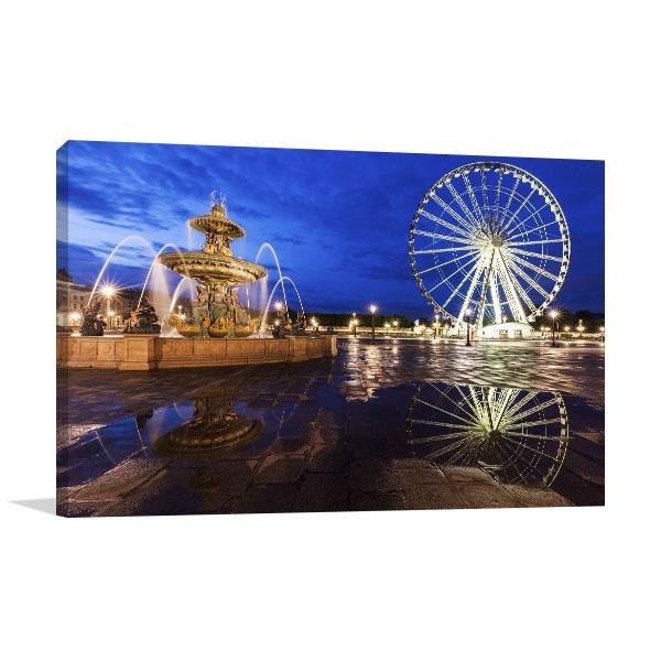 Ferris Wheel on Place de la Concorde Prints Canvas