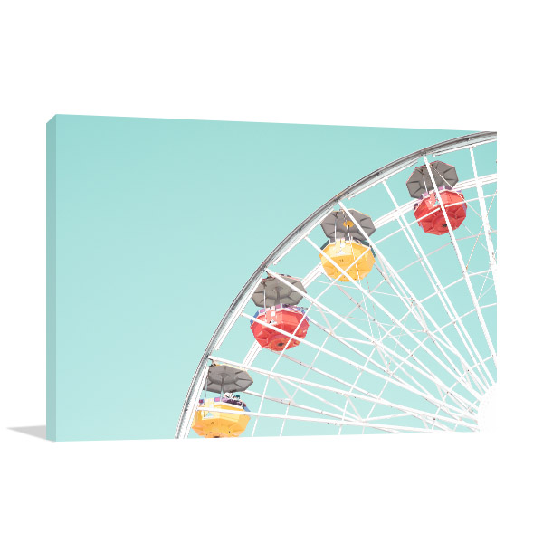Ferris Wheel Pastel Picture Wall