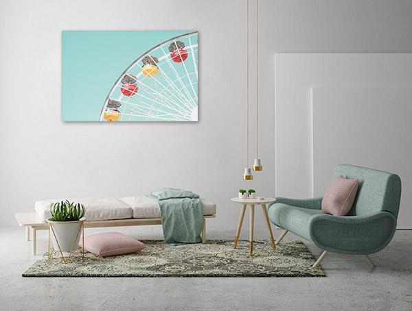 Ferris Wheel Pastel Picture Canvas