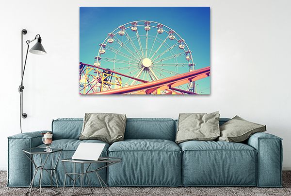 Ferris Wheel Wall Art on the wall