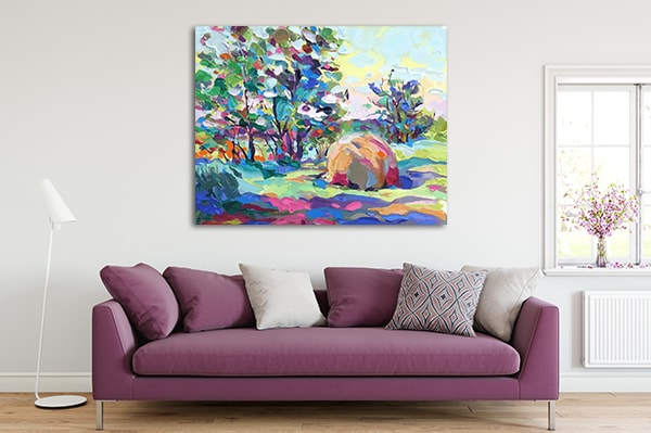 Field and Grass Canvas Art Prints