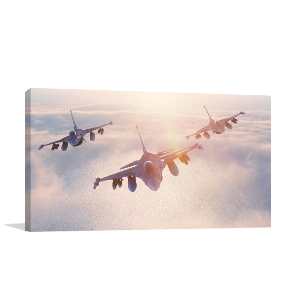 Fighter Jets Canvas Art Prints