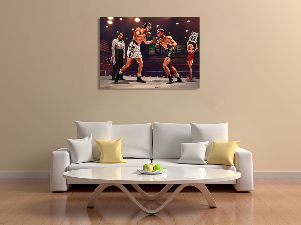 Canvas Art Print Boxing Sports