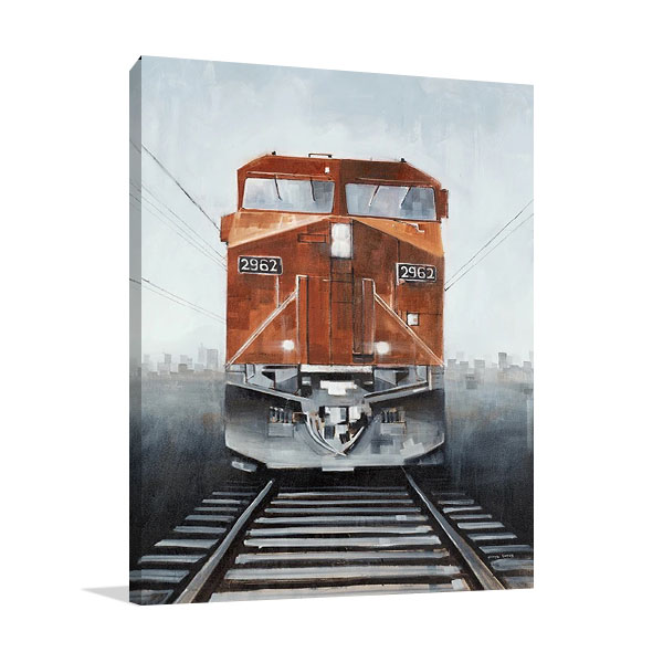 Final Stop Wall Art on Canvas