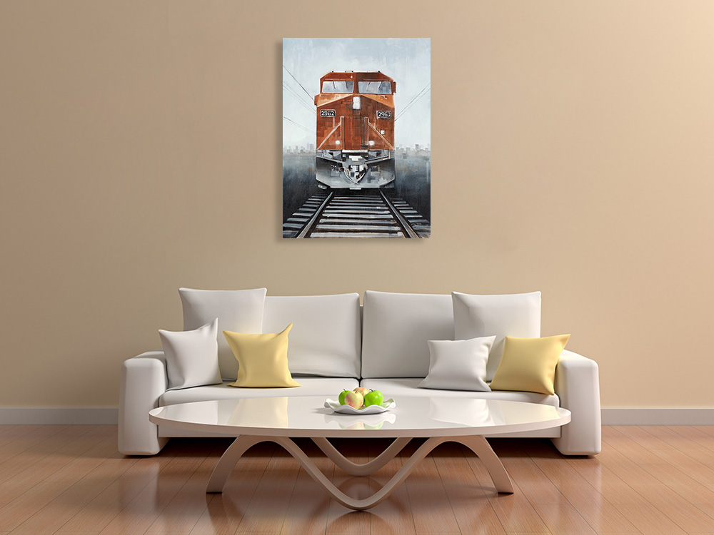 Print Canvas Vintage Train