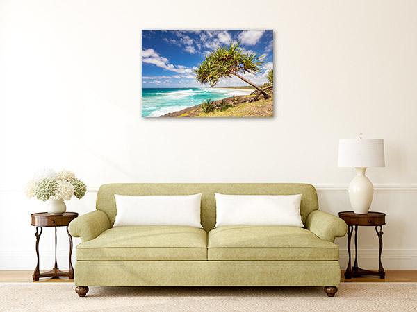 Fingal Head Canvas Print Dreamtime Beach Art Picture
