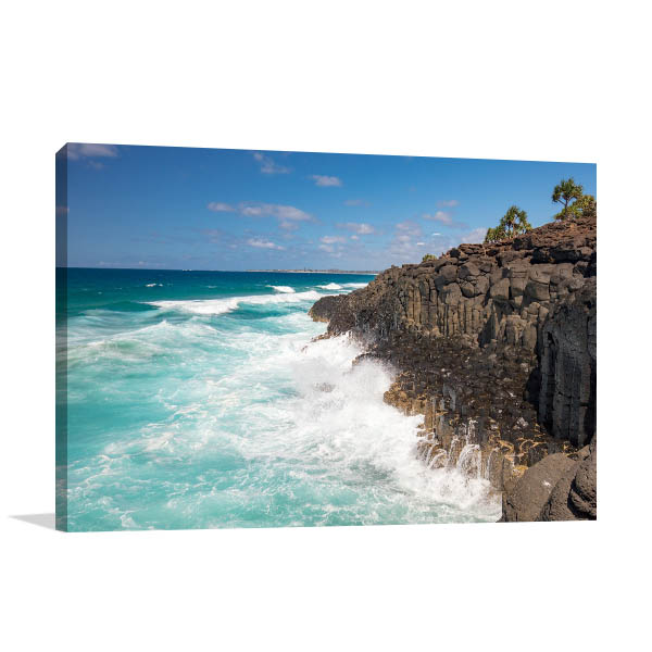 Fingal Head Wall Print Volcanic Rocks NSW Canvas Photo