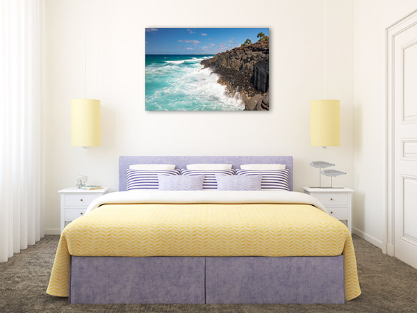 Fingal Head Wall Print Volcanic Rocks NSW Picture Artwork