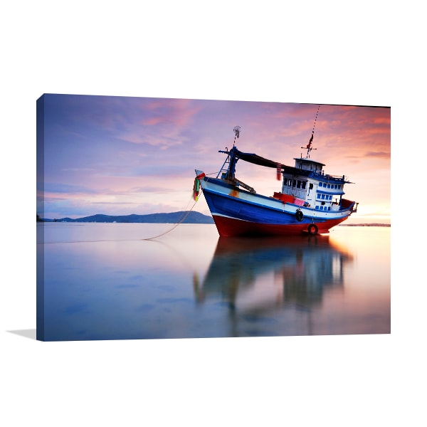 Fish Boat Canvas Art