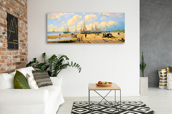 Fishermans and Boats Canvas Prints