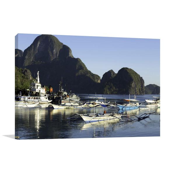 Fishing Village Canvas Prints