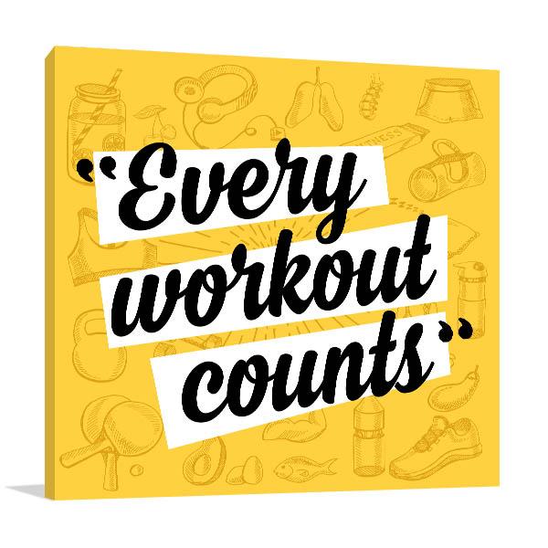 Fitness Motivation Prints Canvas