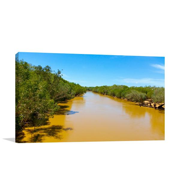 Fitzroy River Art Print Wet Season