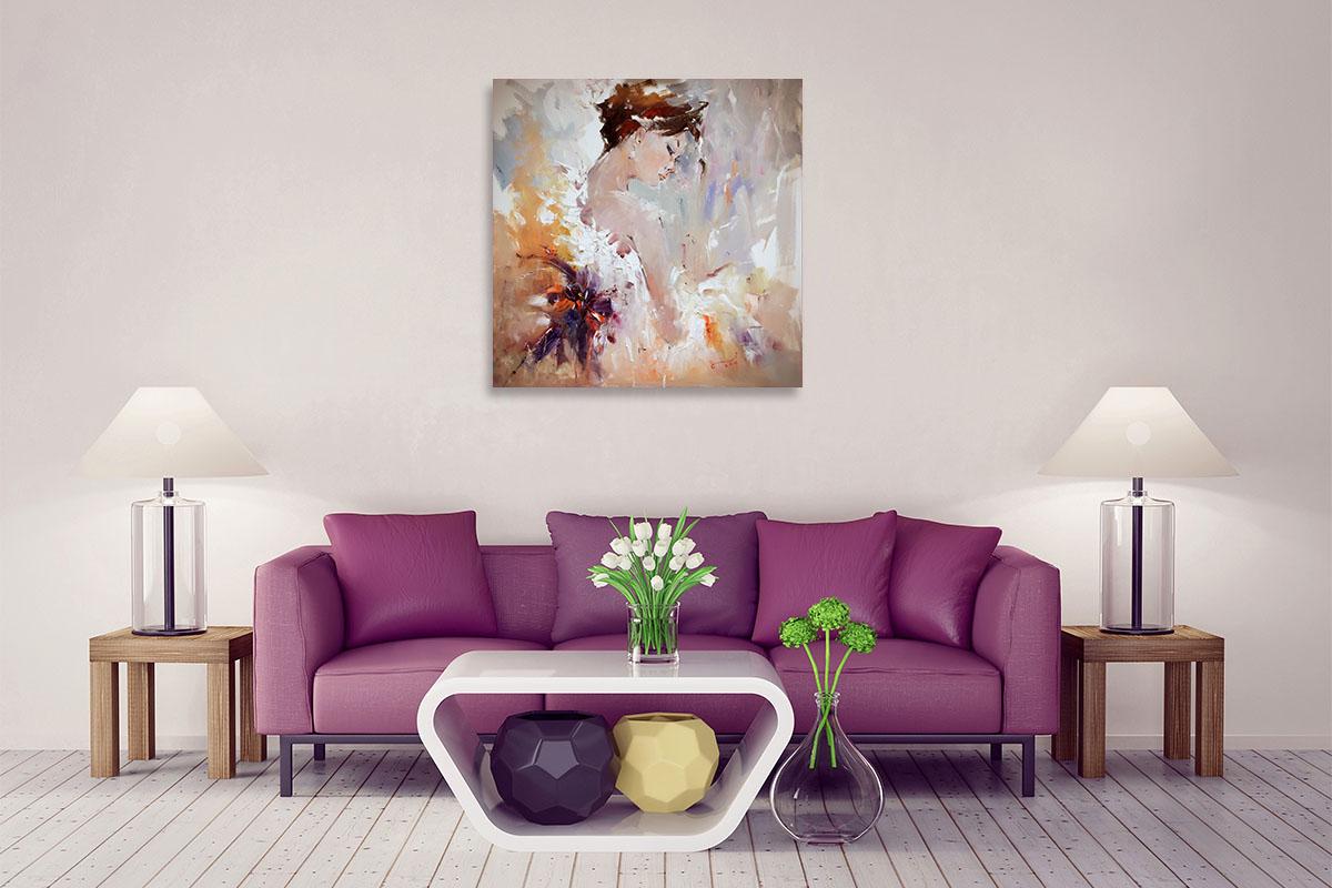 Li Zhou Wall Art | Painting on Canvas | Flamenco II Print