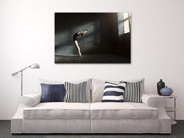 Flexible Ballet Dancer Canvas Prints