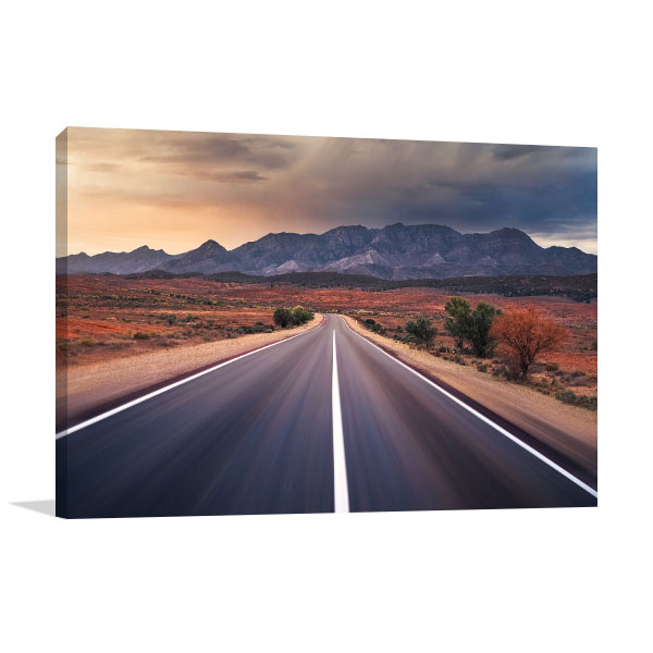Flinders Art Print Ranges in Outback Australia