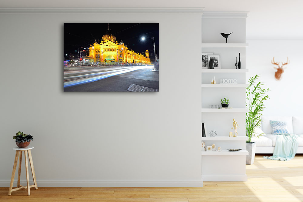 Streetscape Photography Print on Canvas