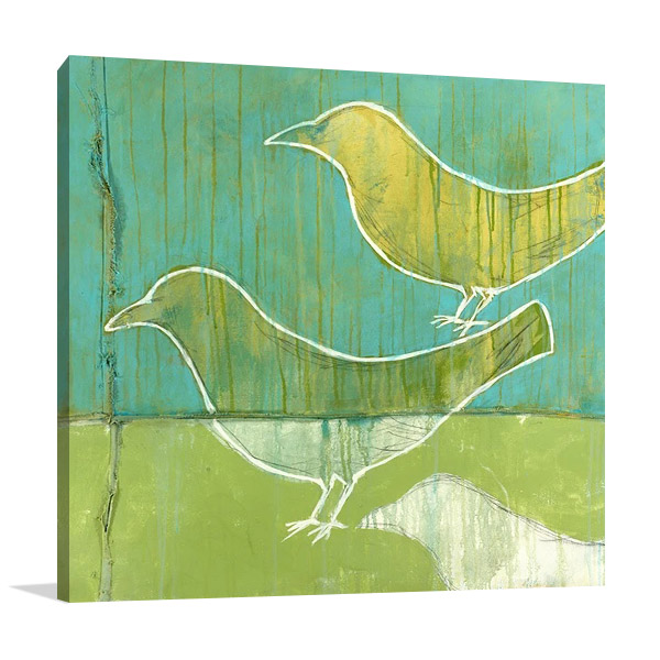 Flock Art Print on Canvas   Balder