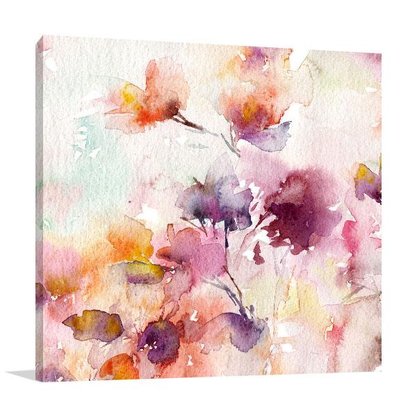 Floral Background Prints Canvas