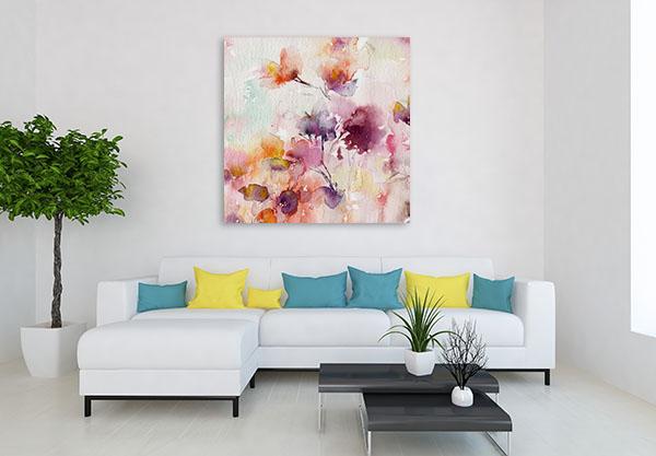 Floral Background Canvas Prints