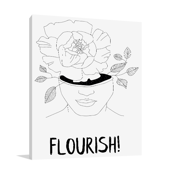 Flourish Line Picture Print