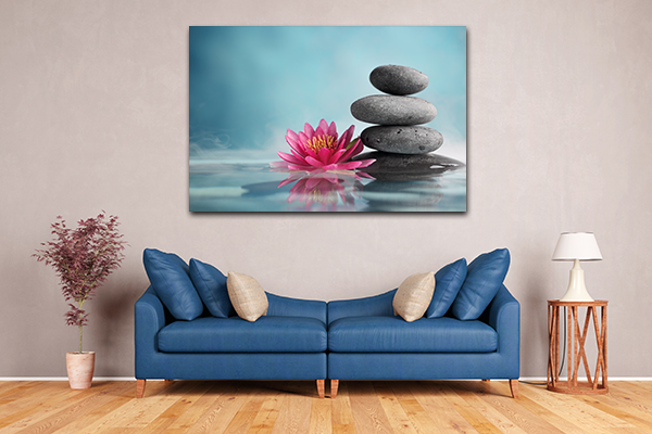 Flower And Stone Prints Canvas