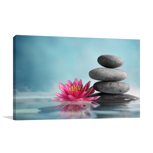 Flower And Stone Canvas Art Prints
