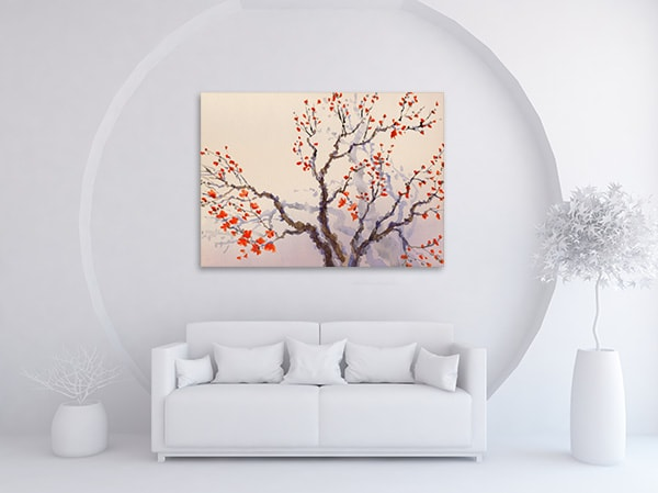 Flower Buds Art Print on the Wall
