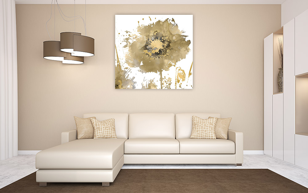 Square Gold Wall Art Print