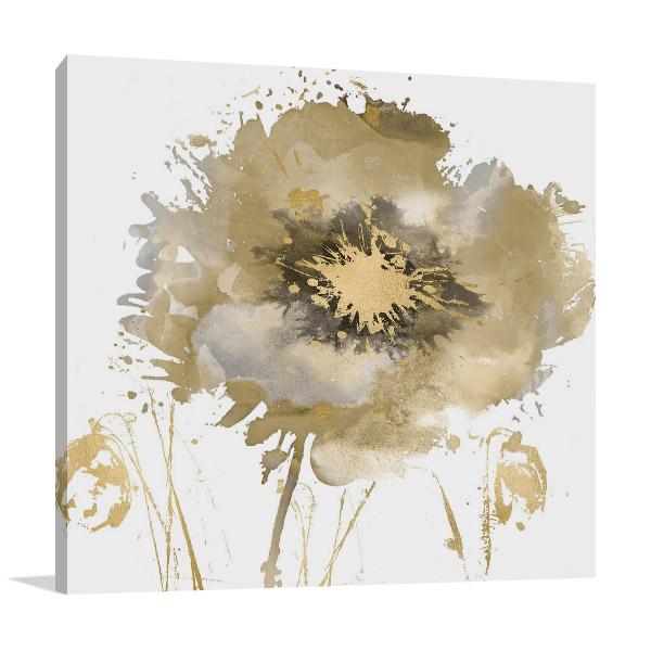 Flower Burst in Gold II Wall Print