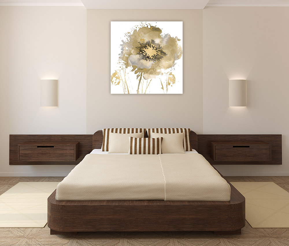 Bedroom Square Canvas Wall Art