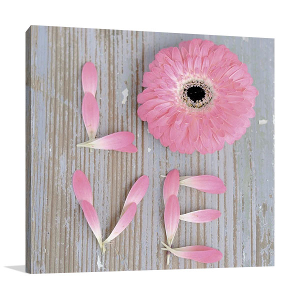 Flower of Love Print on Canvas