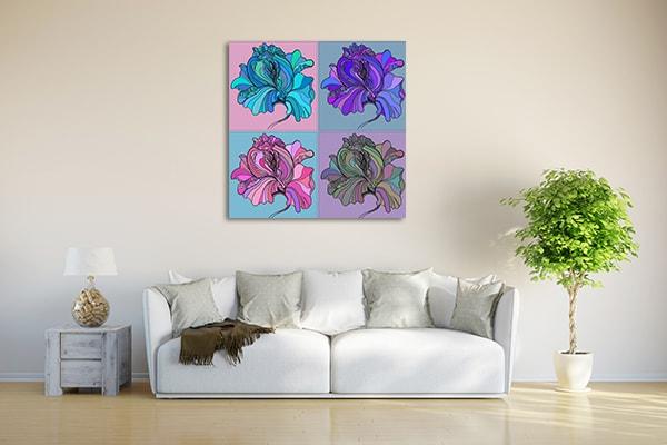Flower Panel Print Artwork