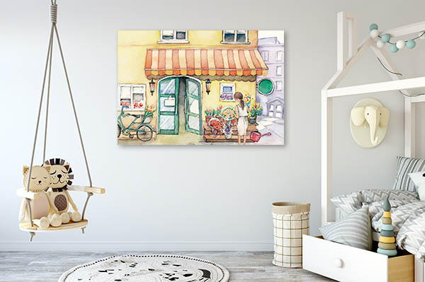 Flower Shop Prints Canvas