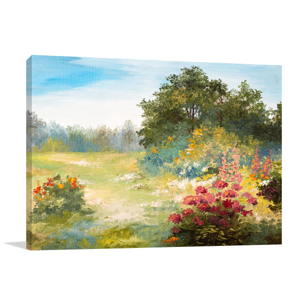 Flowers and Forest Canvas Art