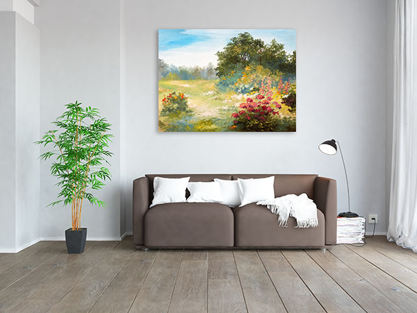 Flowers and Forest Canvas Art Prints