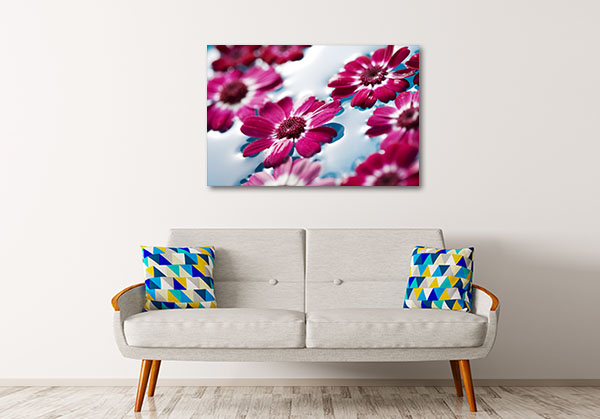 Flowers Floating In Water Prints Canvas