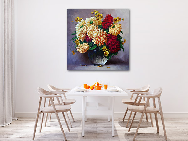 Flowers In Oil Paintings Art Prints