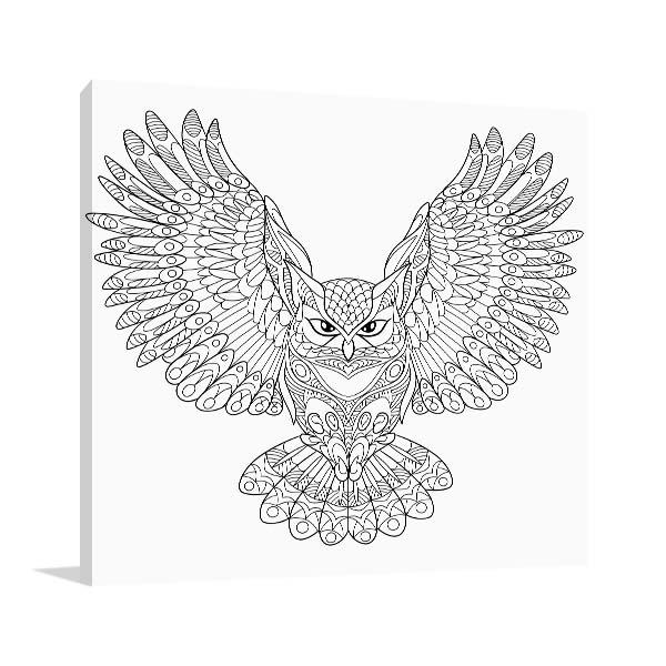 Flying Owl Canvas Art Prints