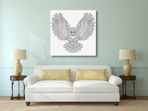 Flying Owl Canvas Prints