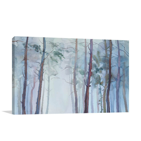 Foggy Birch Canvas Prints