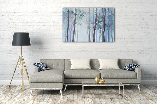 Foggy Birch Artwork
