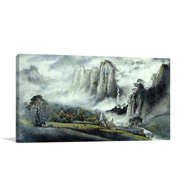 Foggy Mountains Print Artwork