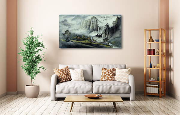 Foggy Mountains Canvas Prints