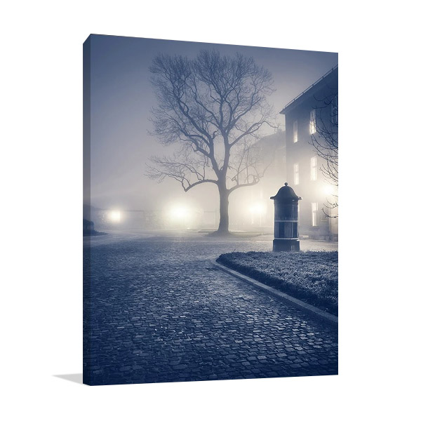 Foggy Old Town Canvas Print