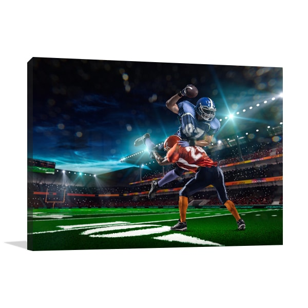 Football Canvas Art Print