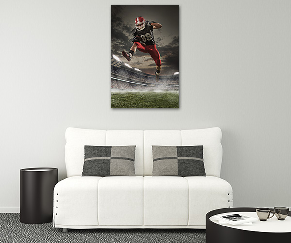Football in Action Print Artwork