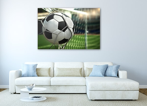 Football on Net Print Artwork on the Wall